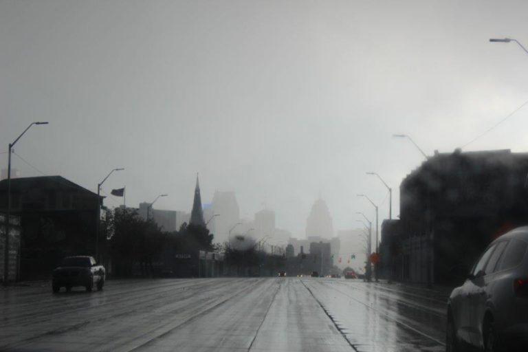 Detroit Skyline from the Car
