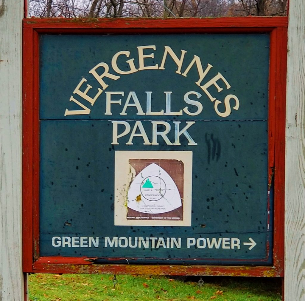 Vergennes Falls Park Sign