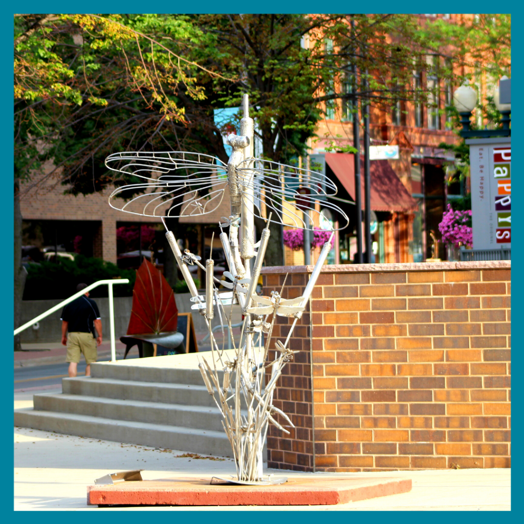 Butterfly sculpture in downtown Sioux Falls