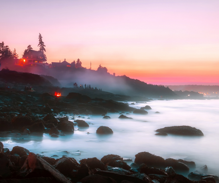 The Rocky Shore off the Coast of Maine